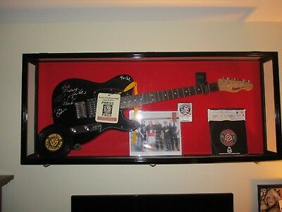 Autographed Fender Squier Guitar by current members of Grand Funk Railroad