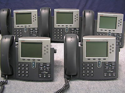 LOT OF 5  Cisco IP CP-7961G  IP Phones CP7961 7961G 7961