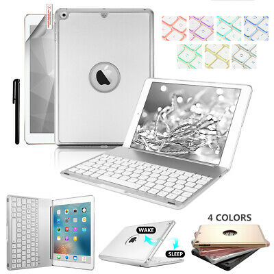 "7 Colors Backlit Bluetooth Keyboard Case Cover For iPad 9.7"" 2017 Air 1/2 Pro AU"