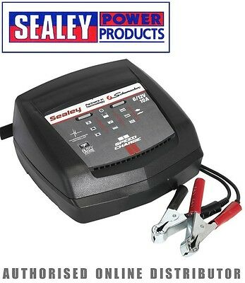Sealey Schumacher Intelligent Speed Charge Battery Charger 10Amp 6/12V - SCI10S