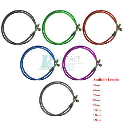 50-120cm Universal Motorcycle Brake Clutch Oil Hose Line Pipe Tube Colorful