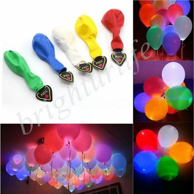 20 LED Balloon Light up Balloons Party Decoration Wedding Birthday Multi-color