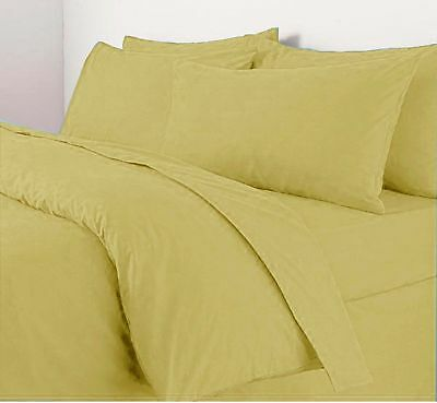 New Latte Linen Queen & King Size Cotton Blend 4Pcs Bed Sheet Set Free Post