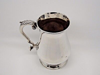 Antique Victorian Silver Pint Mug / Tankard London 1861 – Daniel & Charles Houle