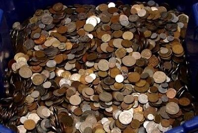Unsearched lot of nice mix of World Foreign Coin Over 2 LB & gift always added