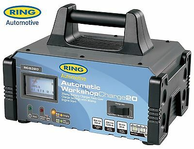 Ring RCB320 Automatic Workshop Battery Charger 20 Amp 12V Fast Slow / Charge