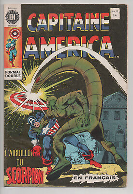 CAPTAIN AMERICA #8 french comic français EDITIONS HERITAGE (1971)