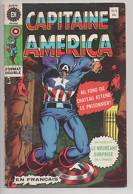 CAPTAIN AMERICA #9 french comic français EDITIONS HERITAGE (1972)