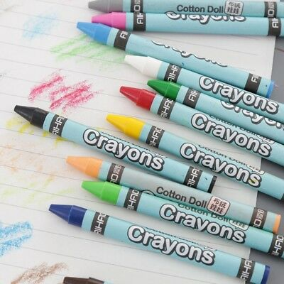 1 Set 8/12/24 Colors Wax Crayon Stick Painting Drawing Sketching Kid Art Tool