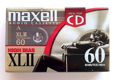 Maxell XLII 60 Chrome Blank Audio Cassette 60 Minute Tape New Sealed Stock