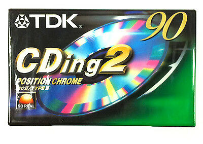 TDK CDing2 90 Chrome Blank Audio Cassette 90 Minute Tape New Sealed Stock