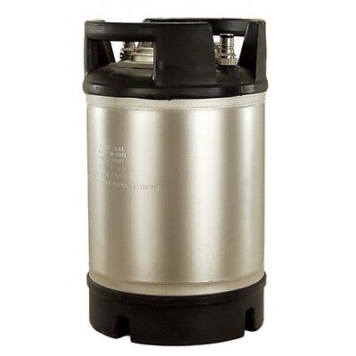 AEB Stainless Steel 2.5 Gallon Dual Rubber Foot / Handled Ball Lock Keg
