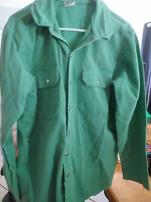 Westex Green Shirt Proban Fr-7A Flame Resistant Cotton - welding Bust 46 inches