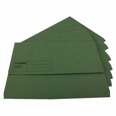 Guildhall Foolscap Green Document Wallet Pack of 50 GDW1-GRN [GH14031]