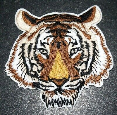 Bengal Tiger Big Cat Embroidered Iron Sew On Patch Applique Badge Lion Panther