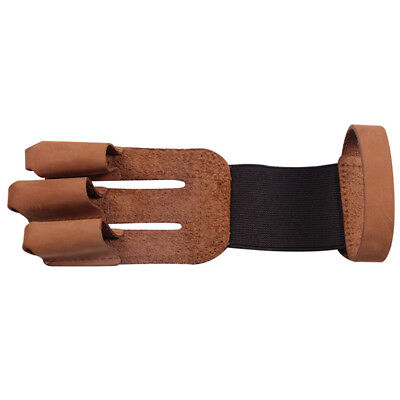 1pcs Hunting Shooting 3 Three Finger Cow Leather Protector Guard Archery Glove