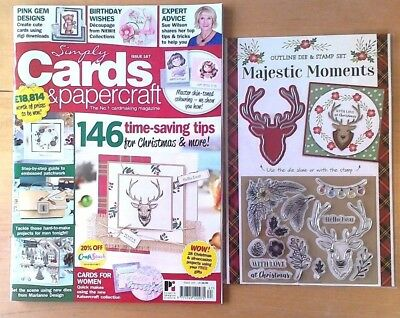 AS NEW Simply Cards and Papercraft magazine 167- latest issue-  2 free gifts