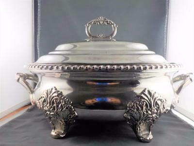 Silver plated central standing opulent Tureen.