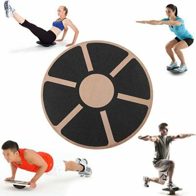 360 Degree Wooden Wobble Board 40cm Balance Fitness Gym Exercise Rehabilitation