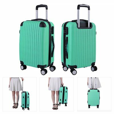 "20"" Travel Luggage 4 Wheels Trolleys Suitcase Bag Hard Shell Cabin Hand Case UK"