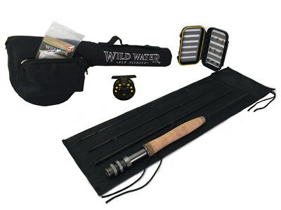 "Wild Water Fly Fishing Complete 3 Weight, 5'6"" Rod and Reel Starter Package"