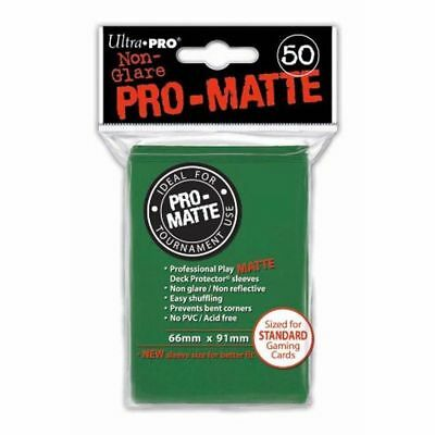 Ultra Pro Trading Card Sleeves - Standard Pro-Matte - Green - Various Quantities