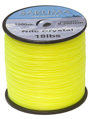 Sakuma Nite Crystal Fishing Line Yellow