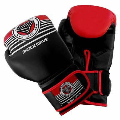 FP Leather Boxing Gloves MMA Training Sparring  Muay Thai Fight Punch Bag Pads