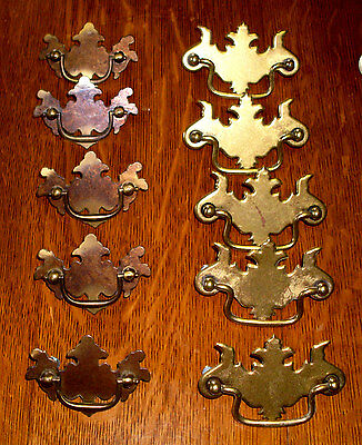 "(# 129 ) (( 2 Set Of 5 )) Vintage Dresser Drawer Pulls, (( 21/2"" & 3""centers ))"