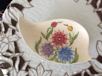 E. Radford  England Hand Painted floral, Shaped Dish - Art Deco - Paintress BL