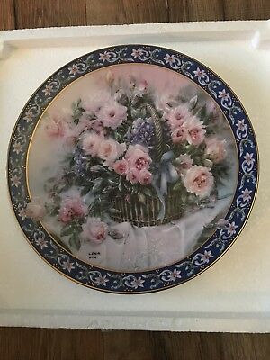 Roses By Lena Liu's Basket Boutiques Limited Edition Porcelain Collectors Plate