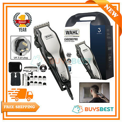 Wahl Chrome Pro Full Complete Home Hair Cutting Clipper Trimmer Set - 79524-800