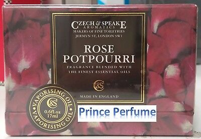CZECH & SPEAKE ROSE POTPOURRI VAPORISING OIL - 17 ml