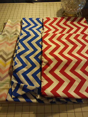 52x22 Standard Daycare cot sheets Assorted chevron Prints (6 sheets)