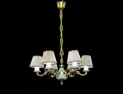 Vintage Rococo Style Fixture Chandelier Ceiling Lamp Lighting early 1900s
