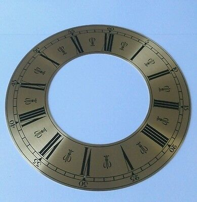 Clock Chapter/Hour Ring Spun Brass  Roman 182mm Outside 101mm Inside