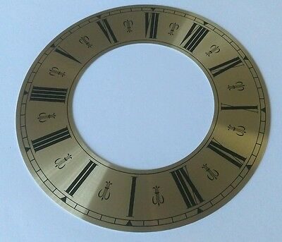 Clock Chapter/Hour Ring Brass Coloured Aluminum Roman 158mm Outside 89mm Inside
