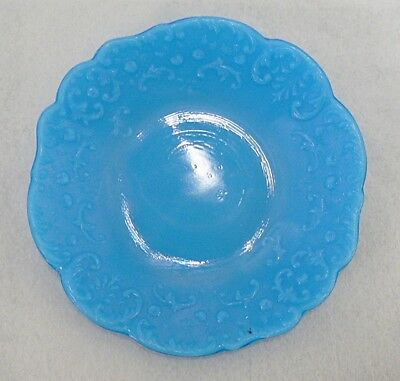 "Turquoise Blue Milk Glass 6.5 "" Plate"
