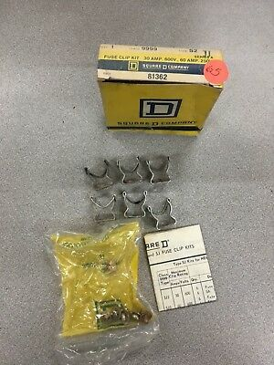New In Box Square D Fuse Clip Kit 9999 S2 Series A
