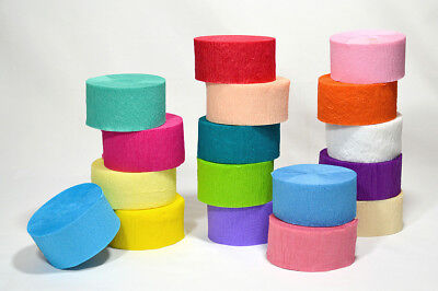 Crepe Rolls Paper Streamer Wedding Decorations Colours Party Birthday