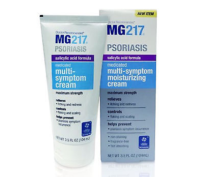MG217 Psoriasis Medicated Multi-Symptom Cream Salicylic Acid Formula 3.5 Fl Oz