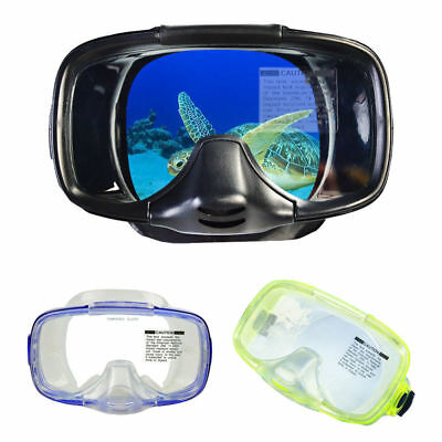 Underwater Full Face Design Pearfishing Scuba Tempered Glass Dry Diving Mask