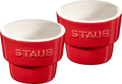 Staub Ceramic Egg Cups, 12-piece Set Cherry red 5 cm Dishwasher-safe