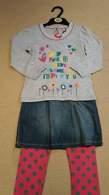 BNWT Marks and Spencers 3 piece girl's outfit size 3-4 years