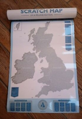 Luckies Scratch Map UK and Ireland Poster