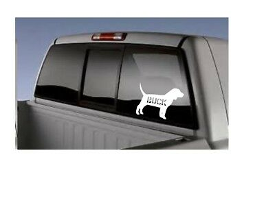 """4.5"""" Handcrafted Vinyl Personalized Beagle car decal"""