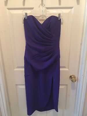 A.J. BARI Size 6 Strapless, Ankle Length Dress - Purple - REALLY GORGEOUS!