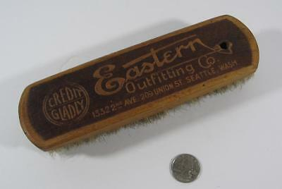EASTERN Outfitting Co. Seattle WA Advertising Shoe Shine Brush 209 Union St.