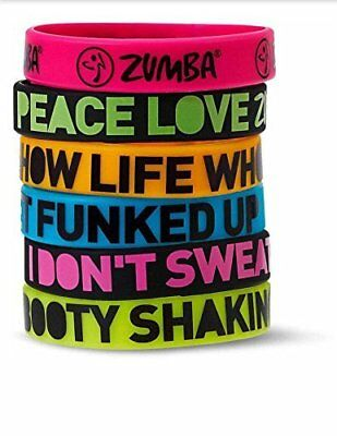 NEW FREE SHIPPING Zumba A0A00524 Express Yourself Bracelets (6PK)