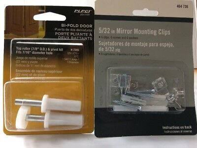 Mirror Mounting Clips And Also Top Rollers For By Folding Doors